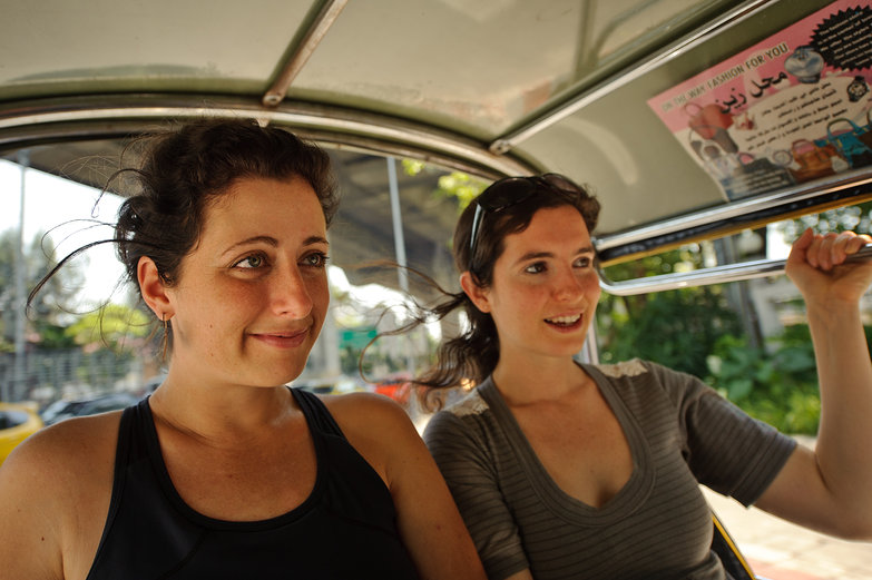Tara & Katy in Tuk-Tuk