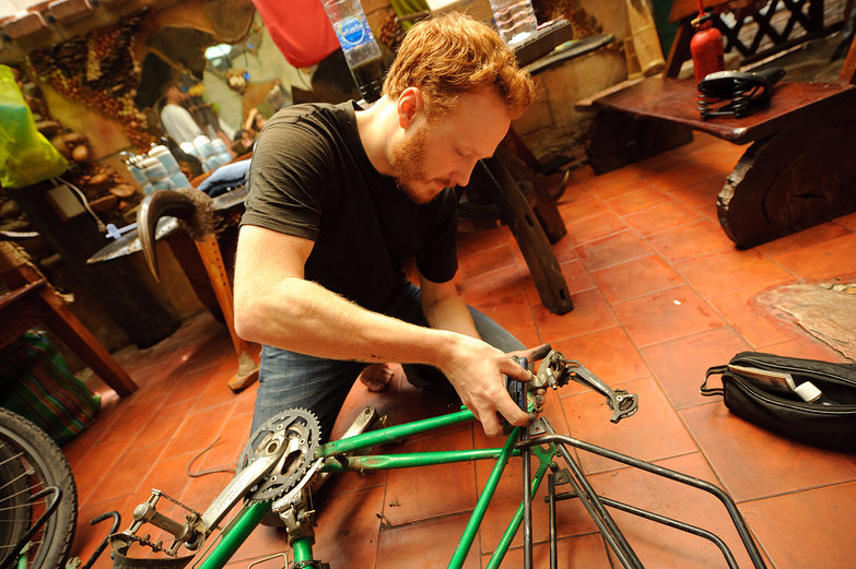 Tyler Disassembling Bike