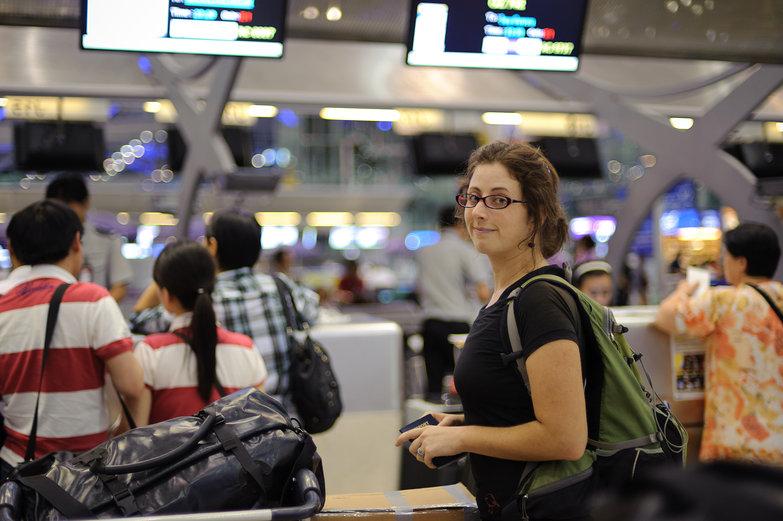 Tara Waiting in Line