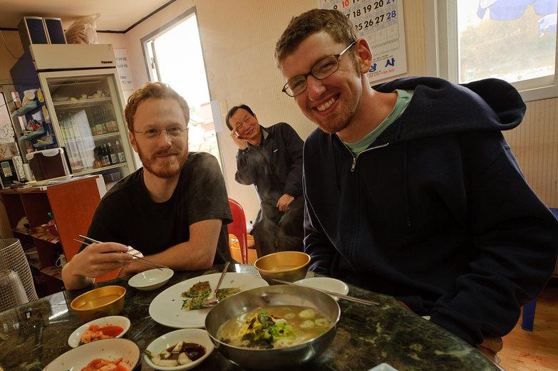 Tyler & Jesse Eating (& Korean Man)