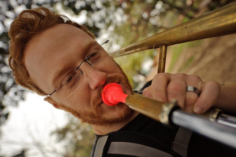 Tyler Playing Trombone (Closeup)