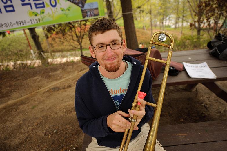 Jesse Playing Trombone
