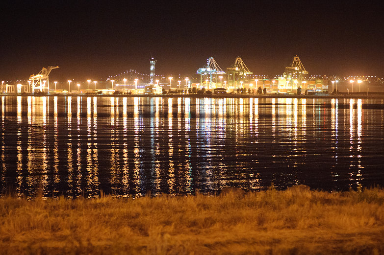 Port of Oakland by Night