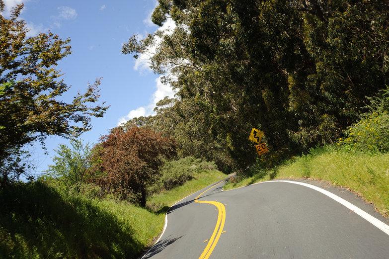 Twisty California Coastal Road