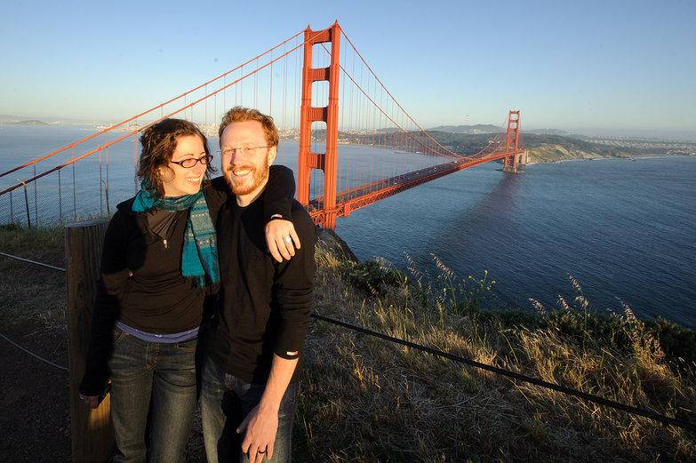Tara & Tyler (Us) at Golden Gate Bridge