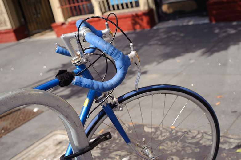 Blue Bike in the Mission, San Francisco