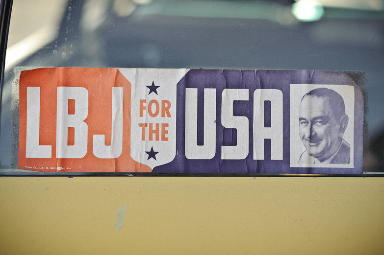LBJ for the USA Bumper Sticker