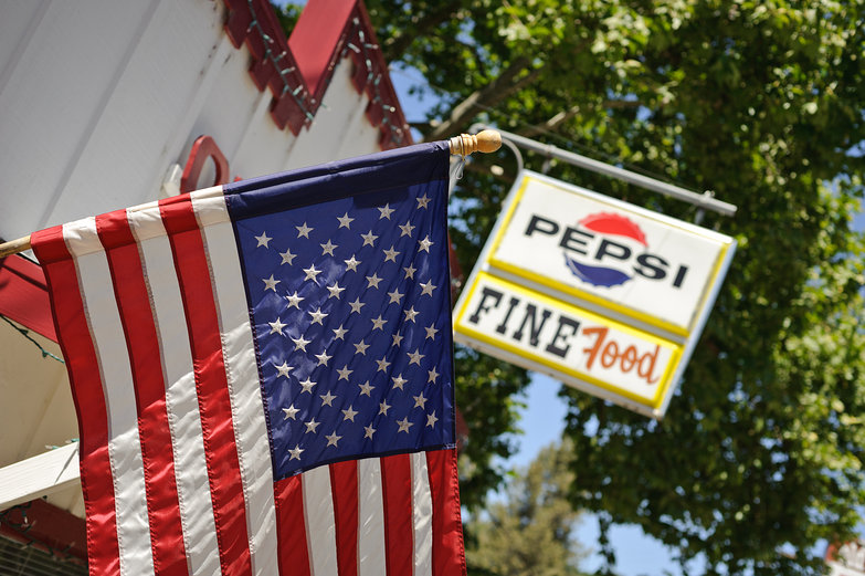 Flag, Pepsi, &amp; Fine Food