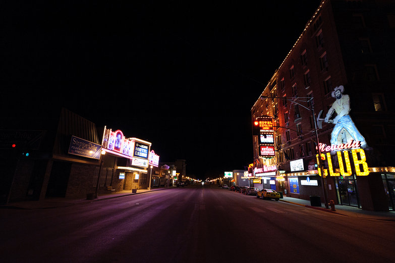 Nightclubs in a Tiny Town on the Loneliest Road in Nevada