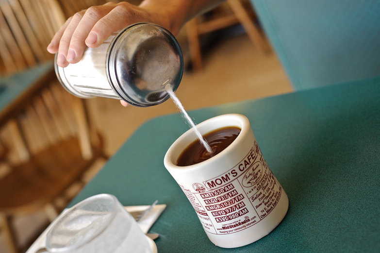 Mom's Cafe Mug of Coffee