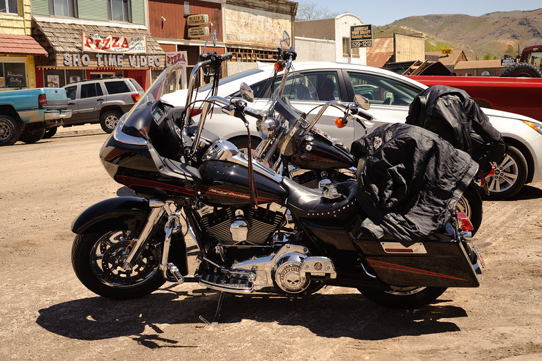 Motorcycles in Small Town America