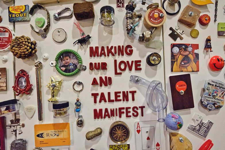 Motto of New Belgium Brewery: Making our Love And Talent Manifest