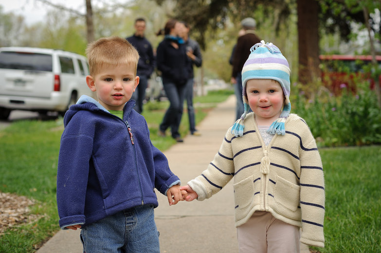 Isaac & Sylvie Holding Hands