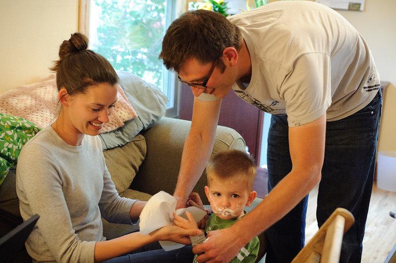 Sarah, Jamie, & Isaac's Messy Hands
