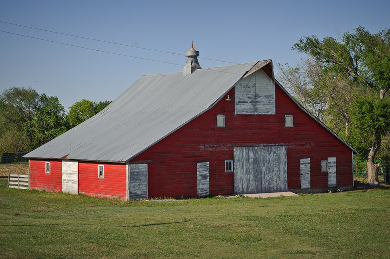 Red Barn in Kansas
