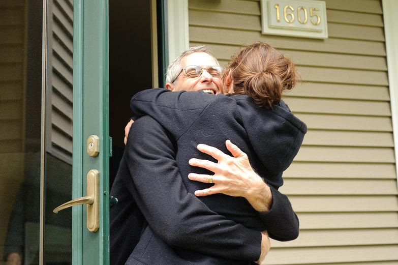 Tara & Mark (Tara's Dad) Hugging