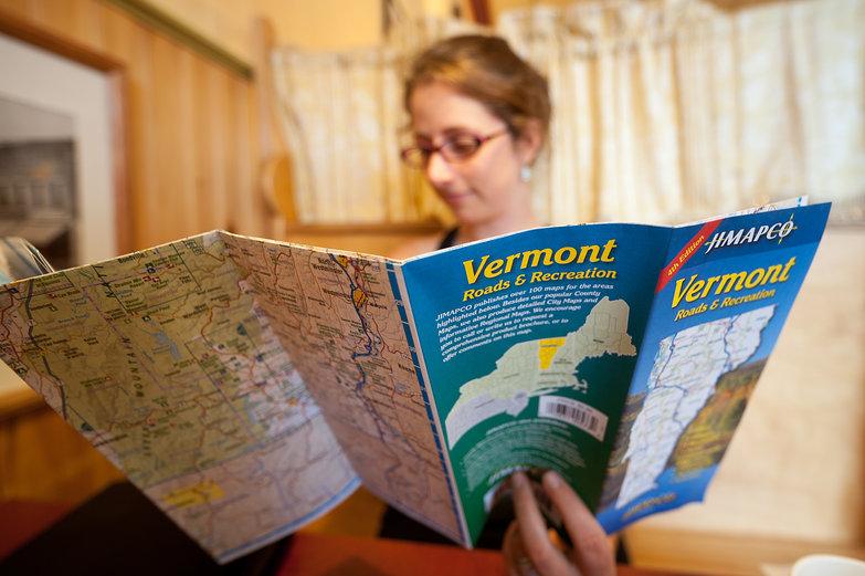 Tara Reading Vermont Map