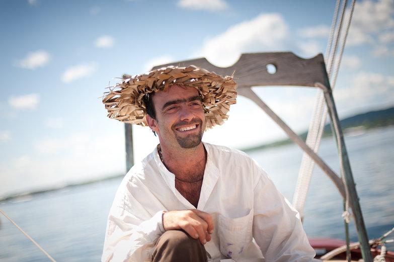Daniel in Palm Hat