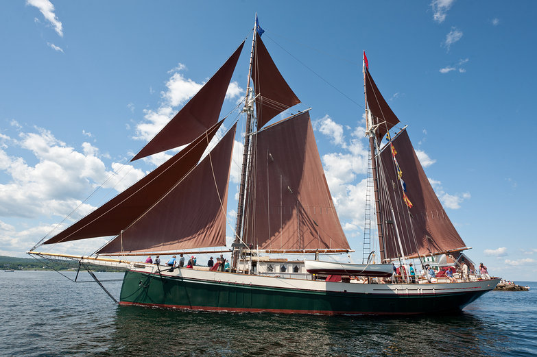Schooner in the 'Parade of Sail'