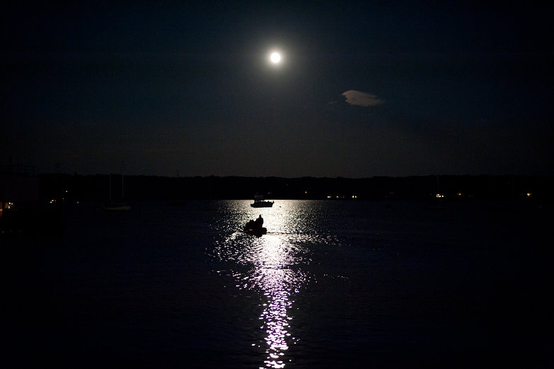 Full Moon over Rockland Harbor