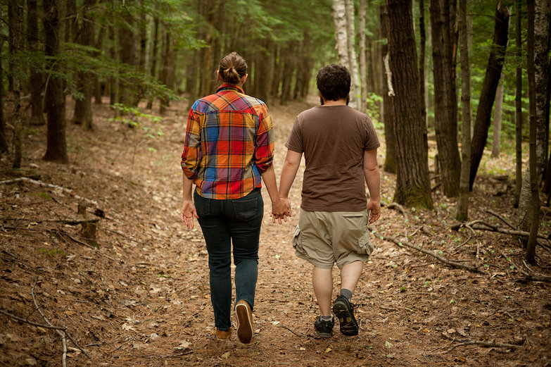 Eliza & Mike Walking in the Woods