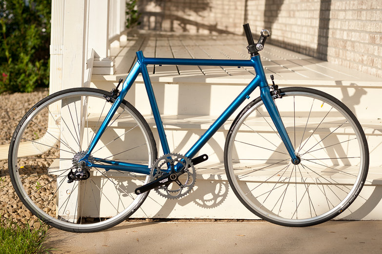 Blue Road Bike in Construction