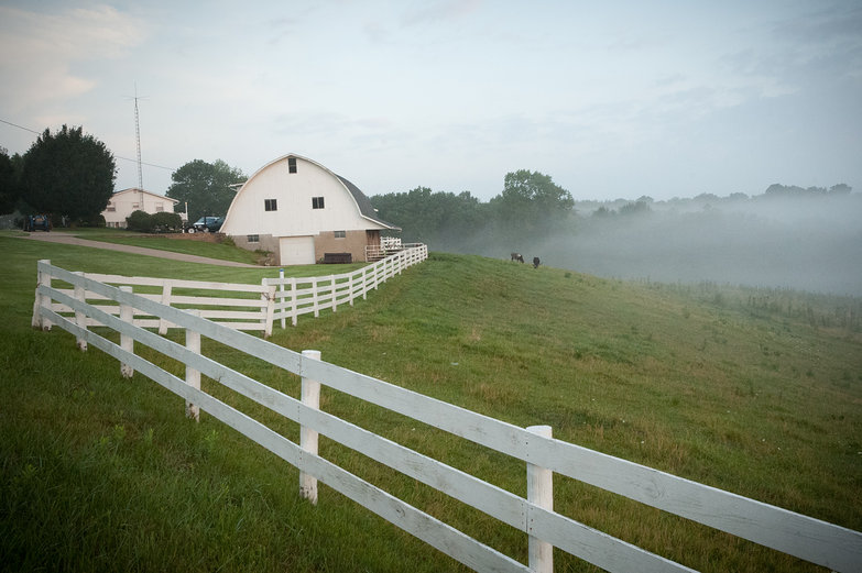 Misty Morning in Amish Country