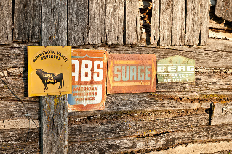Old Barn & Farming Signs