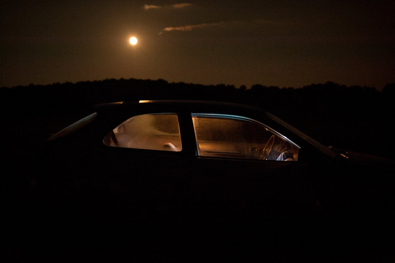 Moonlight in Vermont (and our Car)