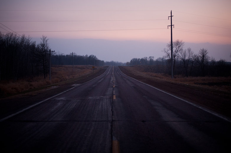 Minnesota Road at Dusk