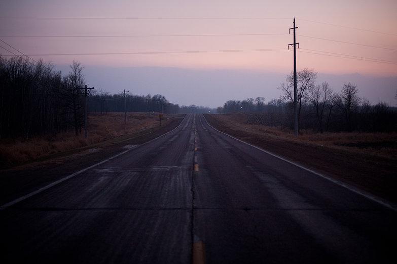 Minnesota Road at Dusk