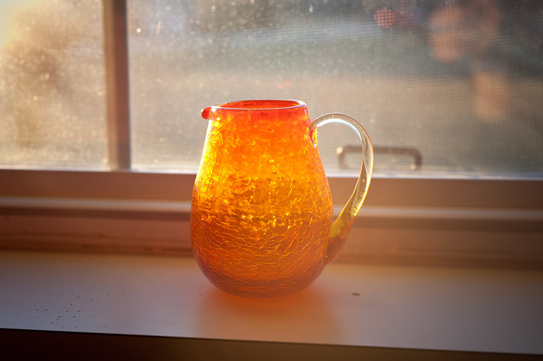 Glass Pitcher in Window at Grandma's Apartment