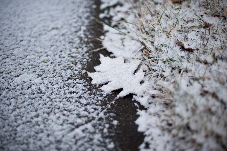 Snow on Sidewalk