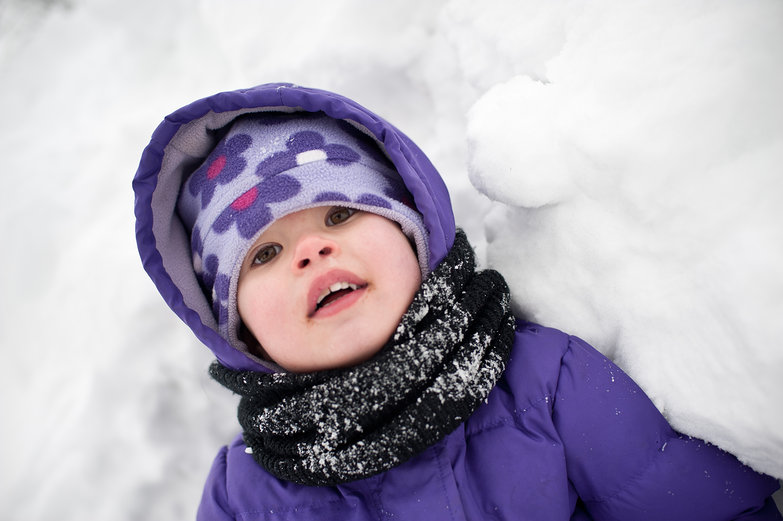 Brynn in the Snow Fort