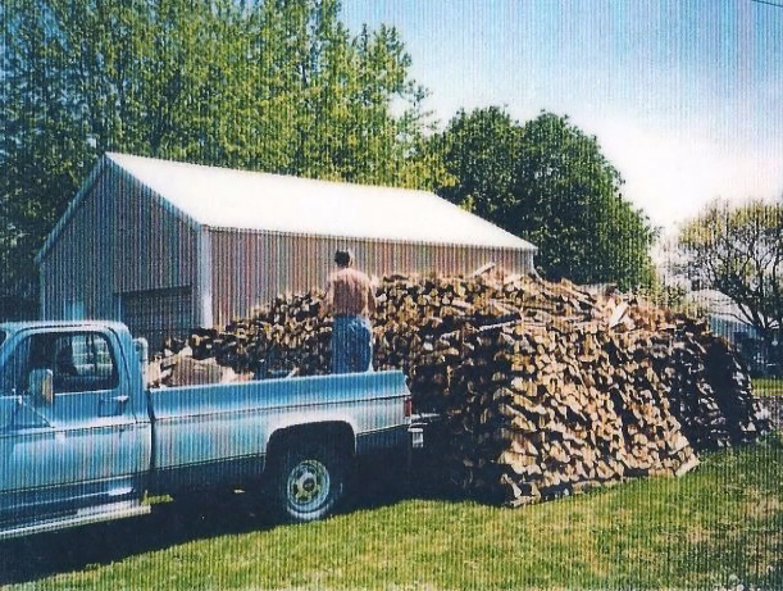 Grandpa and his Wood Stack