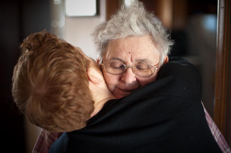 Tyler Hugging Grandma