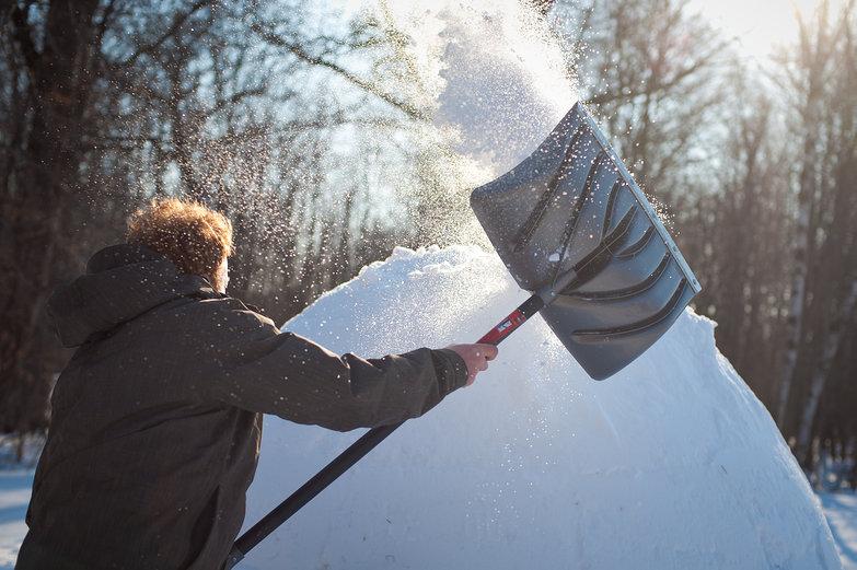 Tyler Shoveling (Pretty Snow)