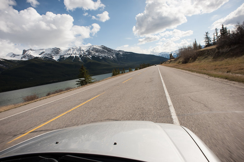 Driving Through Jasper National Park