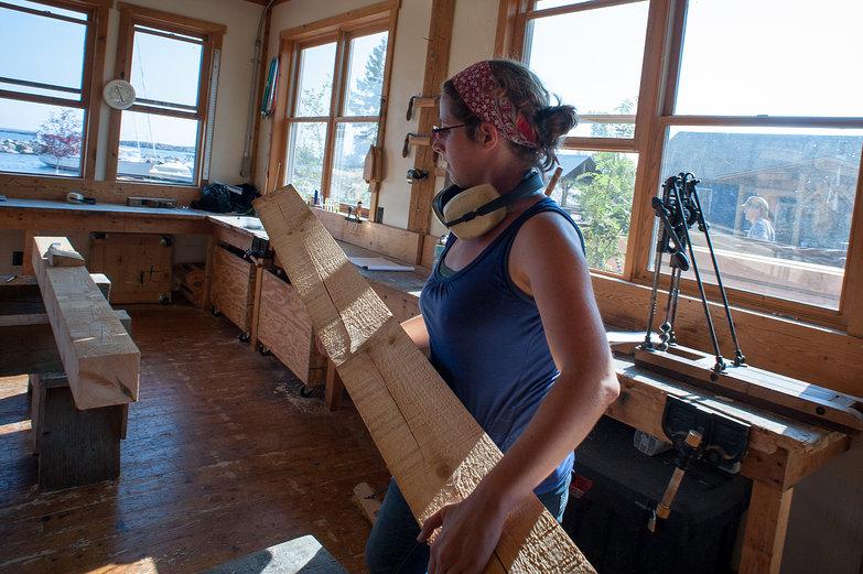 Tara Hauling Timber for King Post
