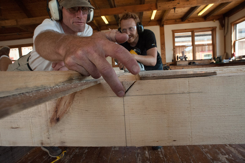 Peter & Tyler Prepping Gang Cut for Rafters