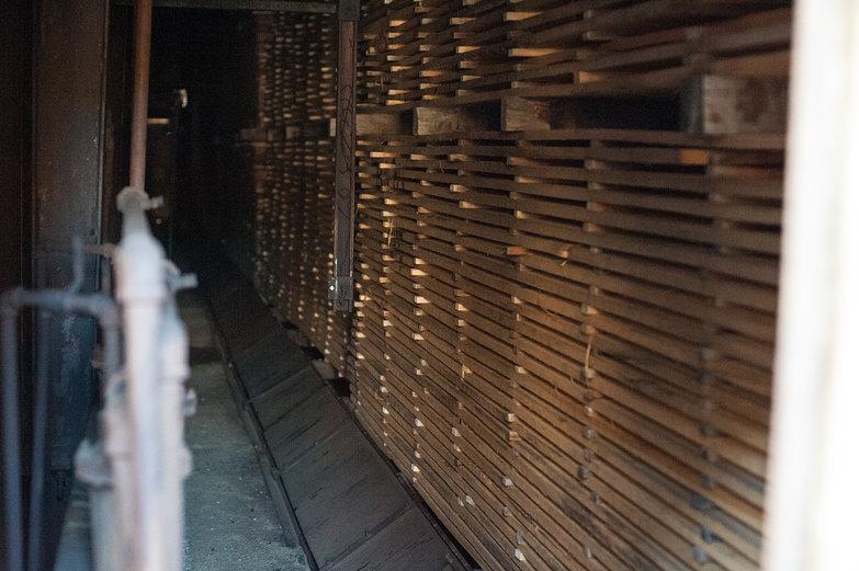 Lumber in a Kiln