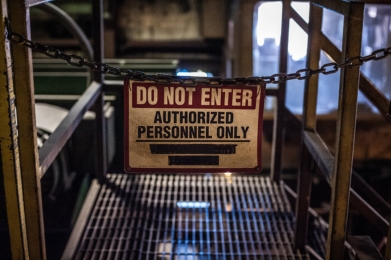 DO NOT ENTER: Authorized Personnel Only