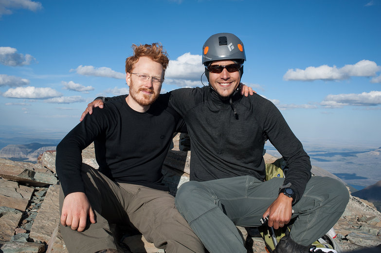 Tyler and Alex at Summit of Mt. Siyeh