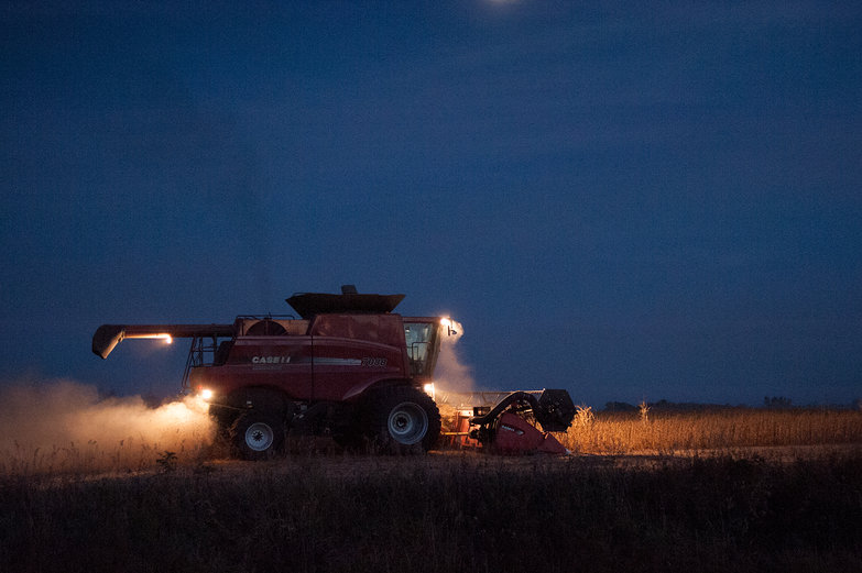 Farm Machinery by Night