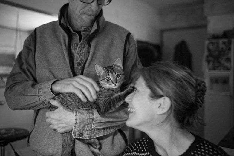 Jack & Mary w/ Their New Kitty Steve