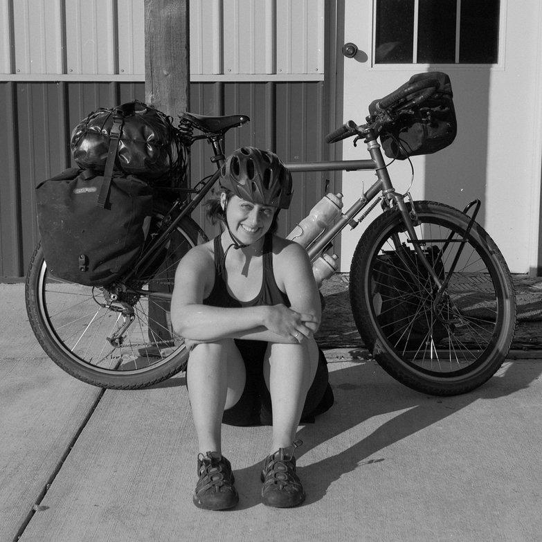 Tara Before Solo Bike Tour (taken with Belca Belfoca)