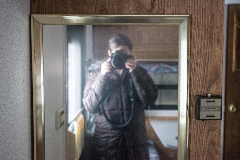 Tara's Self-Portrait in Ugly Brassy Mirror