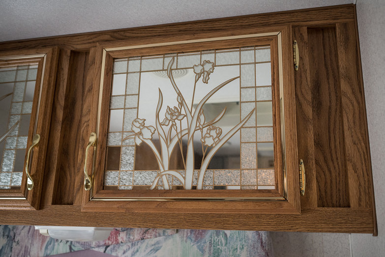 Hideously Ugly Stained Glass Mirror Insert
