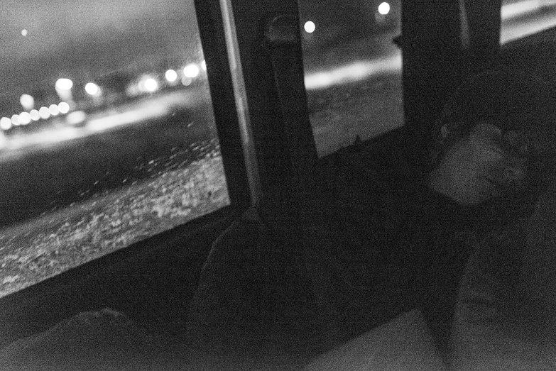 Tara Sleeping in the Truck