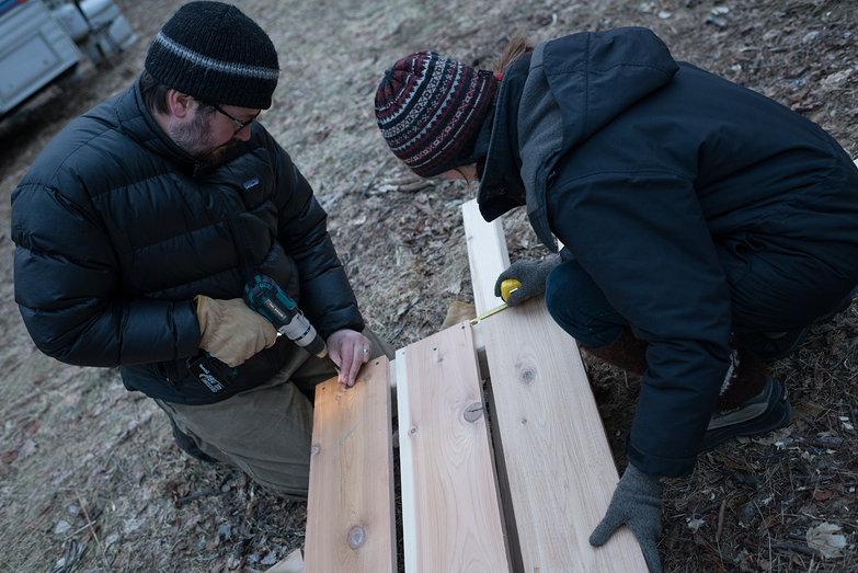 Jeremy & Hercilia Assembling Compost Bins